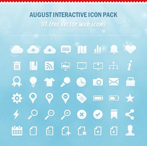 91 Holiday Season Vector Icons [Freebie]