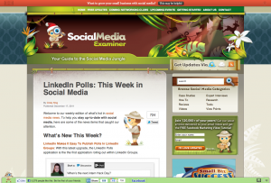 Social Media Examiner - desktop site