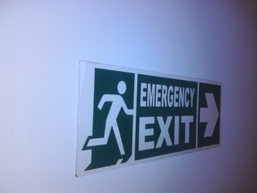 Wayfinding and Typographic Signs - exit
