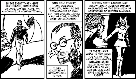iTunes Terms And Conditions: The Graphic Novel