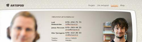 Artopod Website