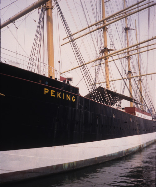 The Peking in South Street Seaport, New York.
