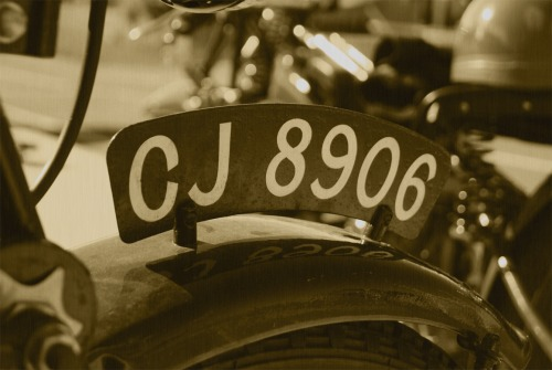 Wayfinding and Typographic Signs - vintage-number-plate