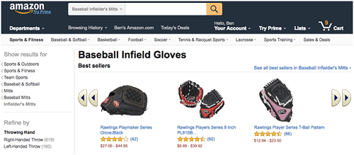 Listings from Amazon