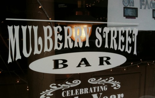 Wayfinding and Typographic Signs - mulberry-street-bar-nyc