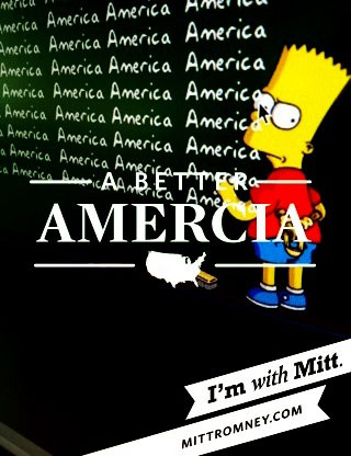 With Mitt app spelled Amercia.