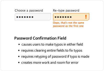 Password Confirmation Field
