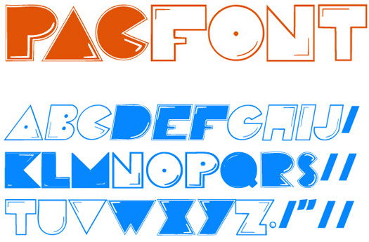Beautiful Free Fonts - Pac font