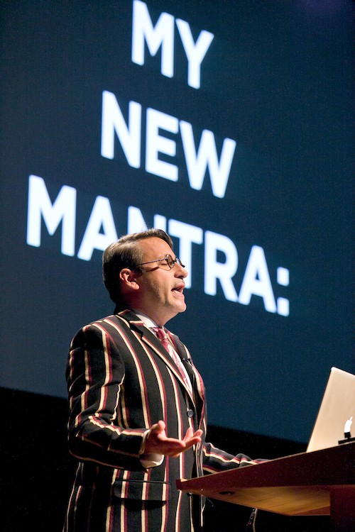 Chip Kidd at the Typo London 2011 conference. (Image: Gerhard Kassner)