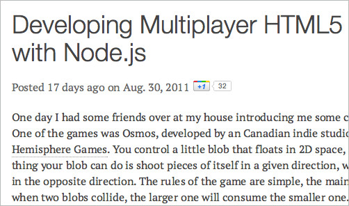 Developing Multiplayer HTML5 Games with Node.js