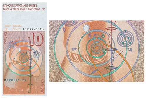 Nibiru on the Swiss Frank Banknote