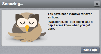 hootsuite time out screen