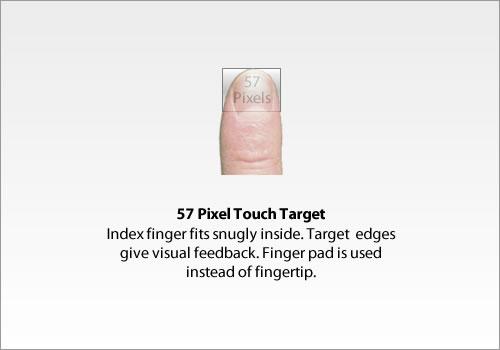 57 pixel target