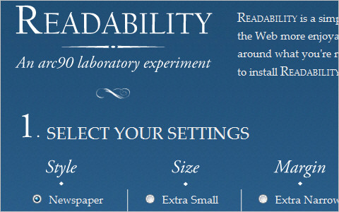 Useful Typography Resources - Readability - An Arc90 Lab Experiment