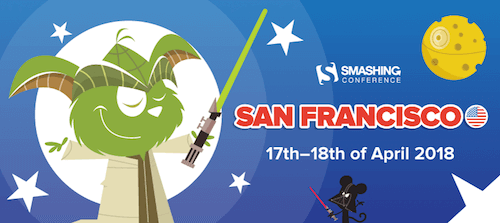 A Yoda cat welcoming you at Smashing Conference in San Francisco, April 17 to 18, 2018
