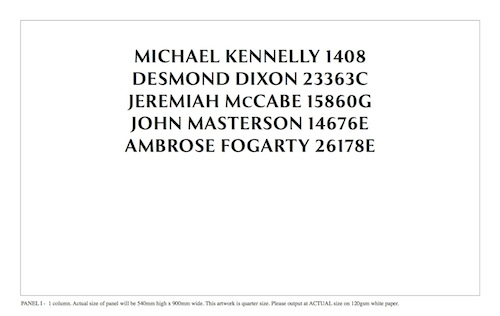 One-Column Name Panel