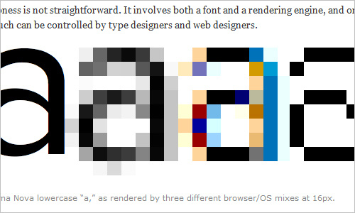 Type rendering on the web