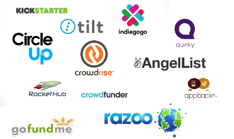 Several of the many crowdfunding platforms available to creators
