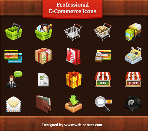 20 Professional E-Commerce Icons [Freebie]