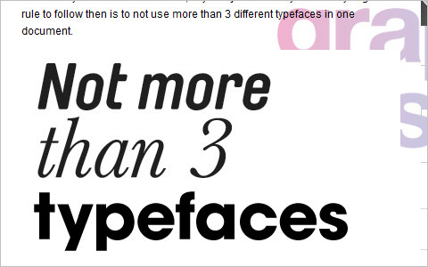 Useful Typography Resources - Simple rules for good typography