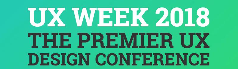 UX Week 2018