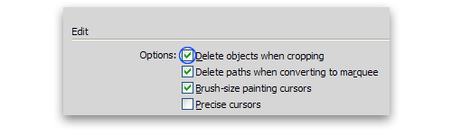 Preferences - Edit - Delete objects...