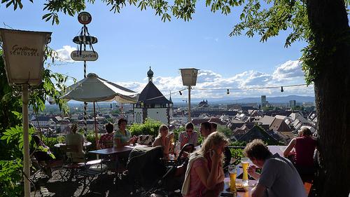 Schlossberg Beer Garden in Freiburg