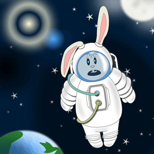 Friday Bunny by Ani Kostova, episode 65 (created in Adobe Fireworks)