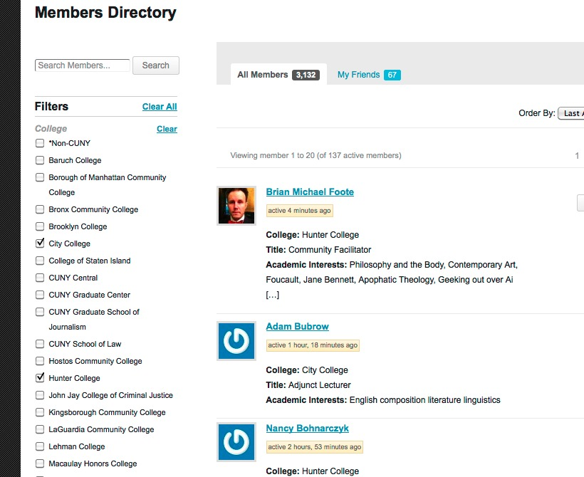 CUNY members' Directory