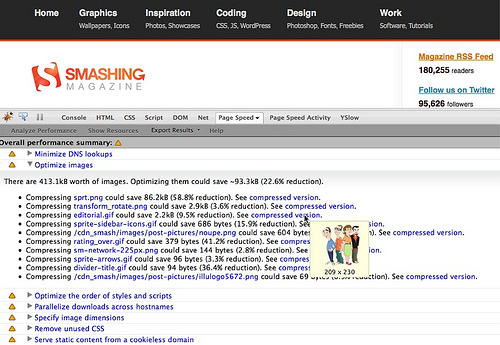 Smashing Magazine on Google Page Speed.