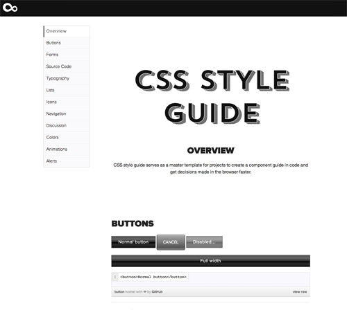 An example of our team's baseline CSS style guide for each new project.