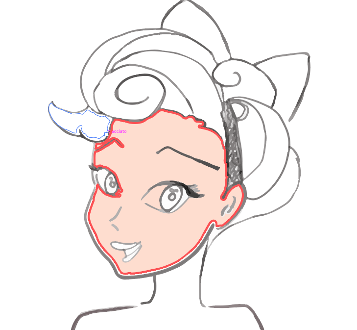 Color the skin with the Paint Bucket tool.