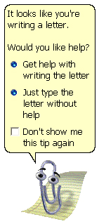 Clippy from Microsoft Office