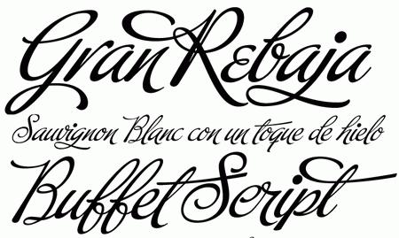 Professional Typefaces - Buffet Script