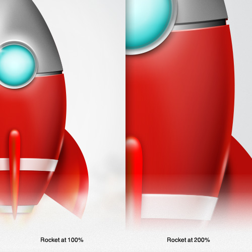 Scale your vector illustrations in Fireworks to any size, while maintaining quality and detail.