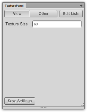Settings in the Texture panel