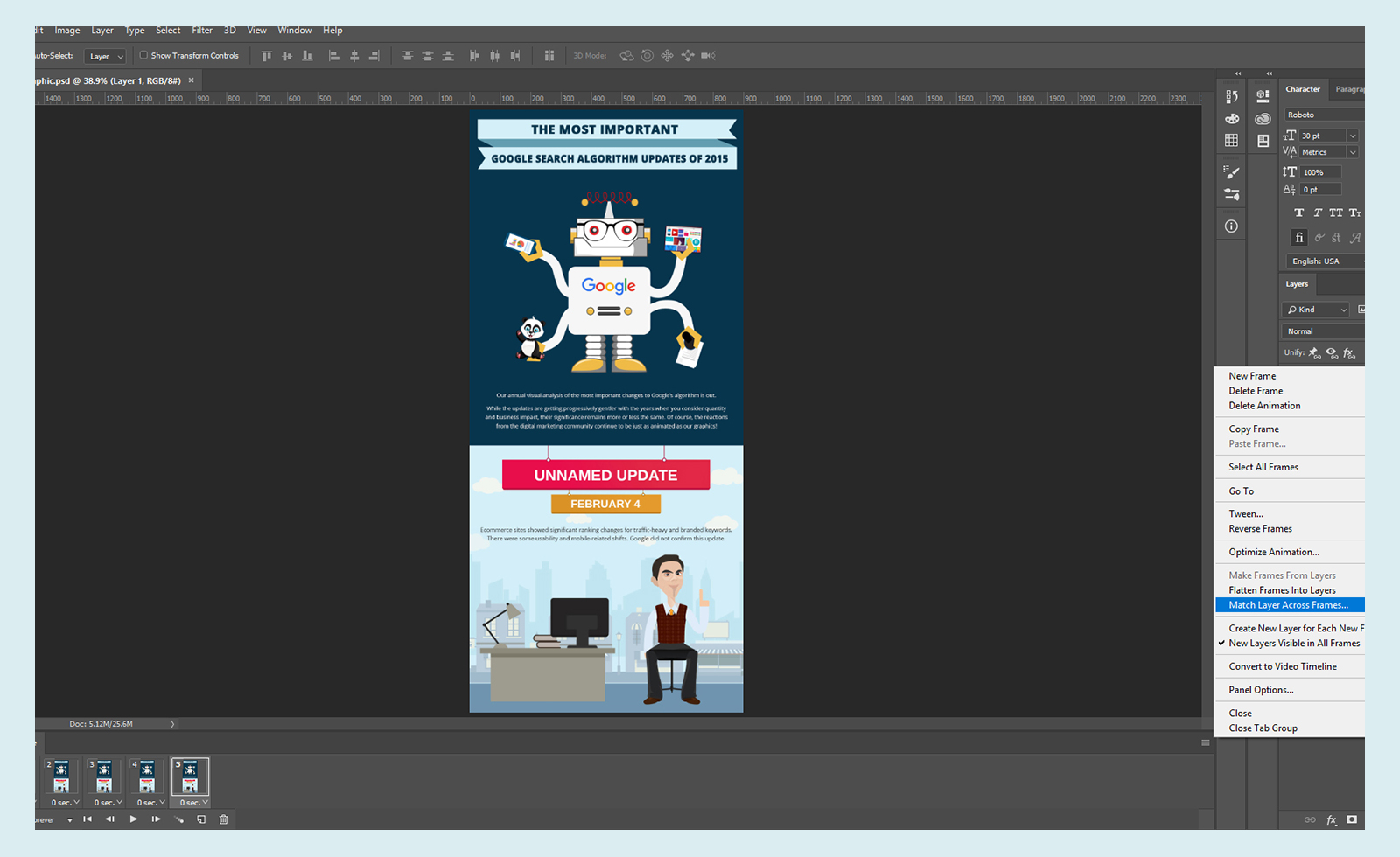 How To Convert An Infographic Into A Gifographic Using Adobe