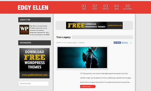 Edgy Ellen Free WP Theme
