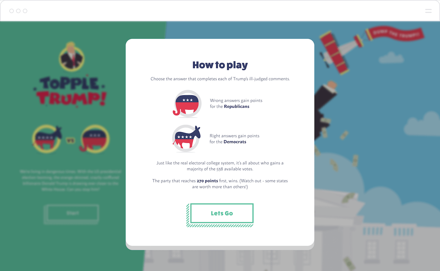 "Building ""Topple Trump"", An Interactive Web-Based Quiz Game"