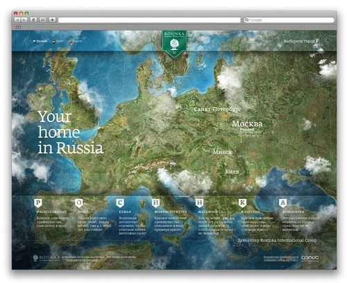 Russian Web Design - Rosinka International Group.