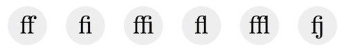 OpenType Features