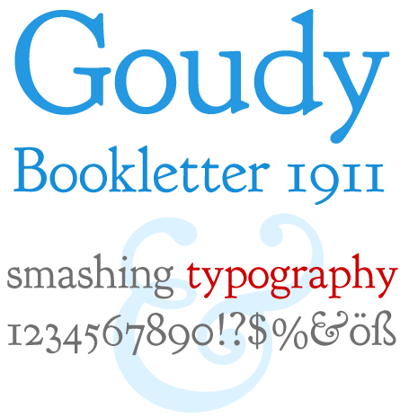 Goudy Bookletter 1911 Screenshot