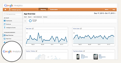 Main Analytics Screenshot