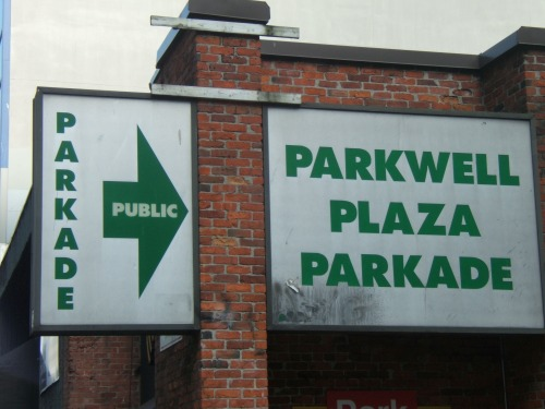 Wayfinding and Typographic Signs - parkwell-plaza-parkage