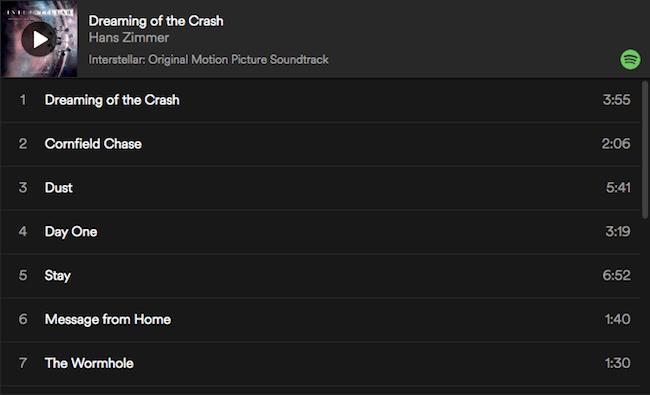 Interstellar Movie Soundtrack