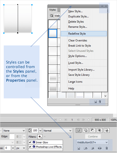Styles in Adobe Fireworks
