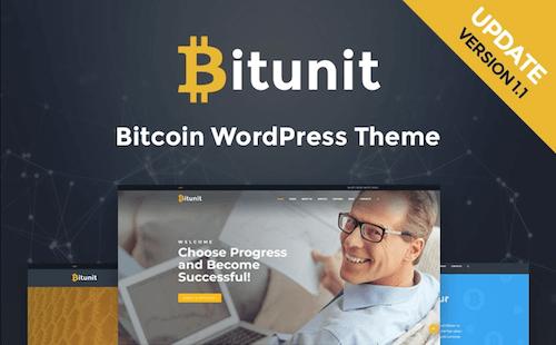 BitUnit: Crypocurrency Website Responsive WordPress Template