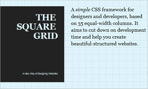 The Square Grid - A simple CSS framework for designers and developers
