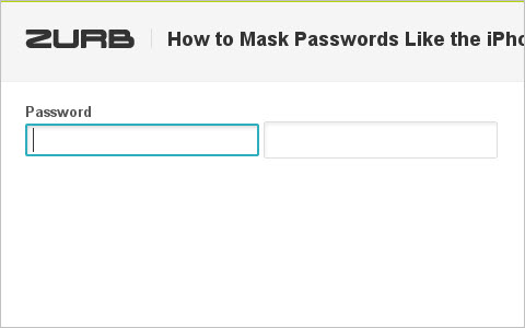 How to Mask Passwords Like the iPhone