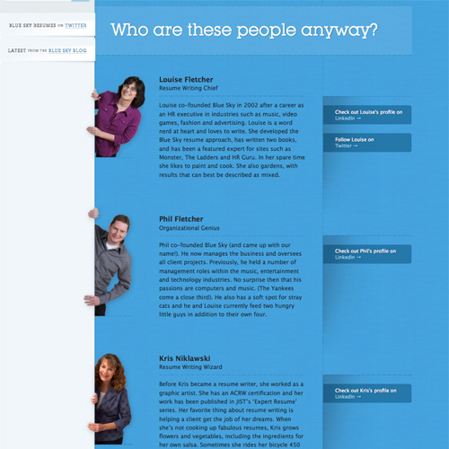 biography layout samples